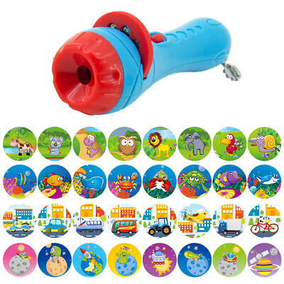 Baby Sleeping Story Projector Flashlight Colors Slides Child Projection Toy