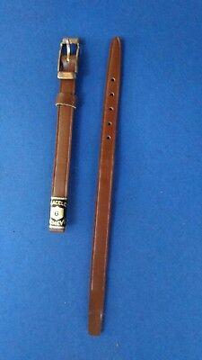 BRACELET  DE MONTRE watch band  /// CUIR  POUR ANSES SOUDEES   6mm  LZ61