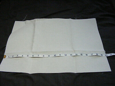 1 large piece 14 count Cream Aida 20 x 14.5 inches Unused