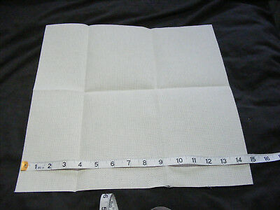 1 piece 14 count Cream Aida 14.75 x 15 inches Unused