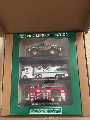 2017 Hess Mini Truck Collection, One 3 Pack, In Factory Sealed Shipping Box