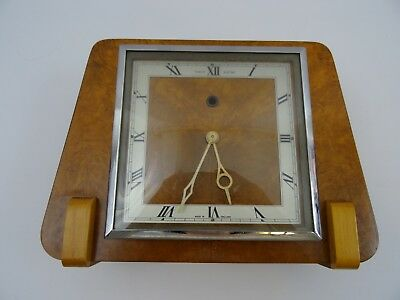 Art Deco Temco Electric Mantle Clock Untested For Restoration
