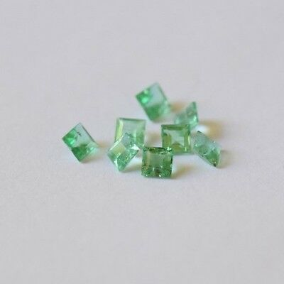 Emerald 1.21ct parcel of eight emerald cut natural Emeralds