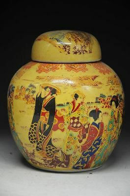 Chinese Qing Dynasty Famille Rose Porcelain Pot Beauties zrf