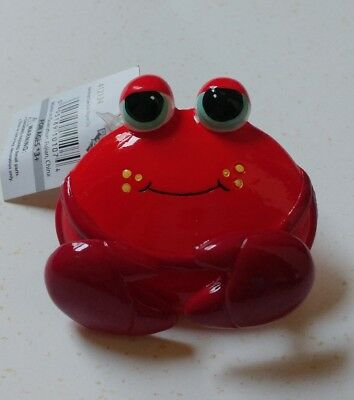 NEW ! Adorable wobble claws Crab Magnet with Clip * great stockiing stuffer *