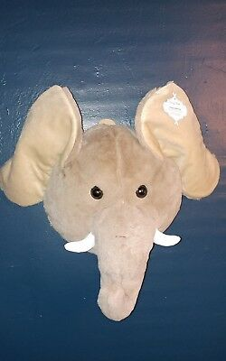Zoo Safari Jungle Animals Stuffed Elephant Wall Hanging Cute Nursery Playroom