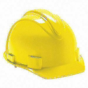 JACKSON SAFETY Hard Hat,4 pt. Ratchet,Ylw, 20401, Yellow