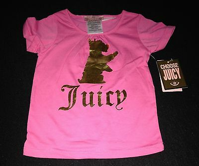 Juicy Couture Short Sleeve T Pink 18M Rrp £38 Now £15