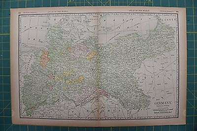 North Germany Vintage Original 1894 Rand McNally World Atlas Map Lot