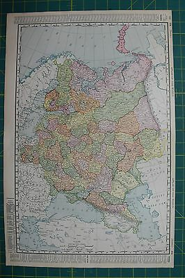 Russia Vintage Original 1895 Rand McNally World Atlas Map Lot