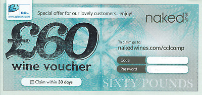 Naked Wines £60 Voucher - another one