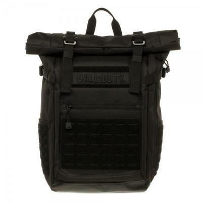 Call of Duty Black Military Roll Top Backpack w/ Laser Cuts