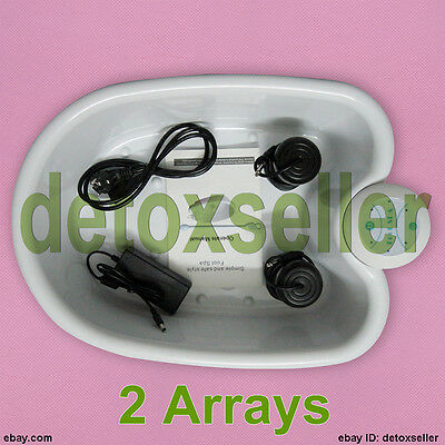 Ion Ionic Detox Foot Bath Spa Cell Cleanse System &Tub Detox Removal 2 Arrays CE