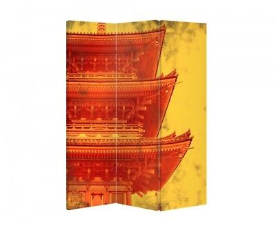 Double Sided Canvas Dressing Screen Room Divider 03487 All Sizes