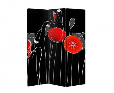 Double Sided Canvas Dressing Screen Room Divider 06019 All Sizes