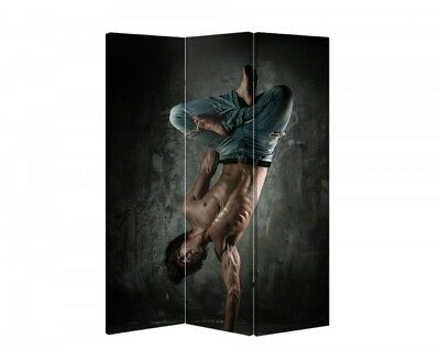 Double Sided Canvas Dressing Screen Room Divider 05604 All Sizes