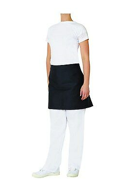 Half Waist Black Apron with Pocket