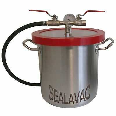 SEALAVAC Vacuum Chamber, Stainless Steel, various sizes, Silicones, Resins