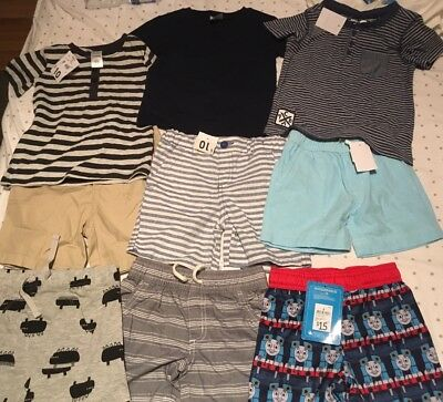 Boys Size 2 Clothing Bundle Shorts T Shirts All BNWT New Thomas The Tank Engine