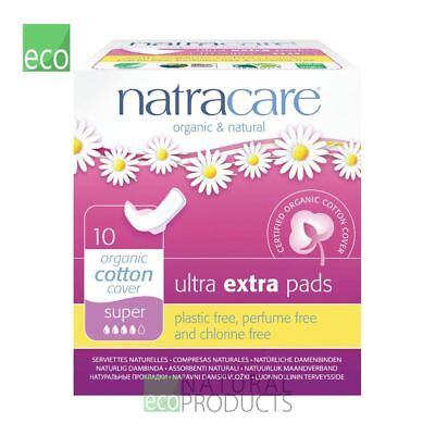 Natracare Organic Cotton Ultra Extra Pads 10 Super