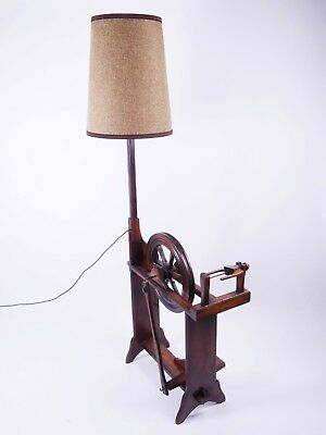 Stehlampe Spinnrad Vintage Floor Lamp Spinning Wheel