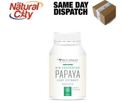 ROCHWAY PAPAYA (Paw Paw) LEAF EXTRACT 60caps-Same Day Dispatch