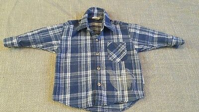 Size 2T farm themed bleached flannel
