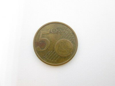 Rare 5 Euro Cent Italy 2002 ERROR Coin - Extra Metal - Circulated FS
