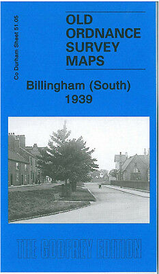 Old Ordnance Survey Map Billingham South 1939 Haverton Hill Road Ici Complex