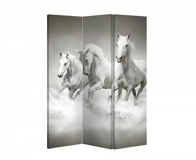 Double Sided Canvas Dressing Screen Room Divider 04178 All Sizes