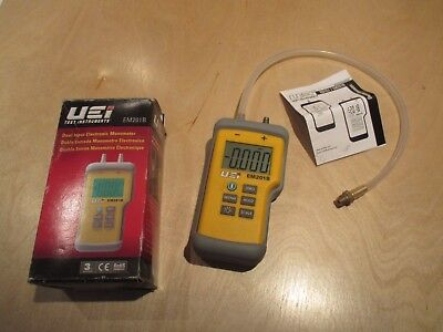 UEI 201B Dual Input Electronic Manometer- Meter to +/- 60 inches water column.