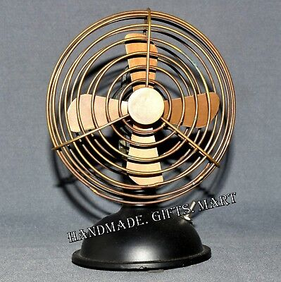 """Vintage Nautical Working Table Fan Collectable in Brass 6"""" Antique Table Fan"""