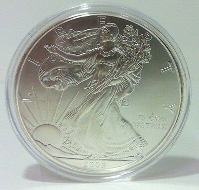 2009 1 oz Silver American Eagle (Brilliant Uncirculated) airtight capsule C020
