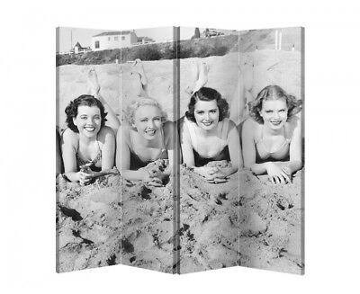 Double Sided Canvas Dressing Screen Room Divider 6356 All Sizes