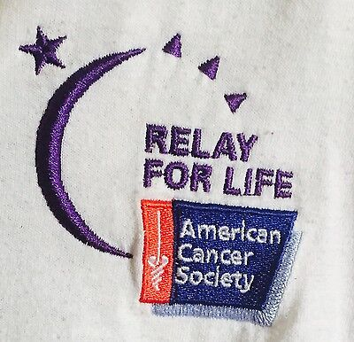 SHINE ON: Relay For Life American Cancer Society Collared Soft Cotton Shirt XL