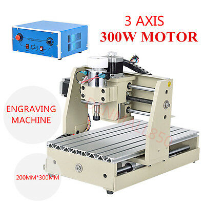 300W CNC 3020 Router Engraver 3 Axis Desktop Engraving Carving Milling Machine