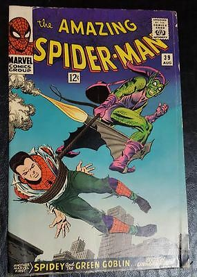 Marvel Comics The Amazing Spider - Man #39 Green Goblin Id Exposed1966