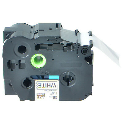 Black on White Label Tape Compatible for TZ261 TZe261 P-Touch PT-530 550 3600