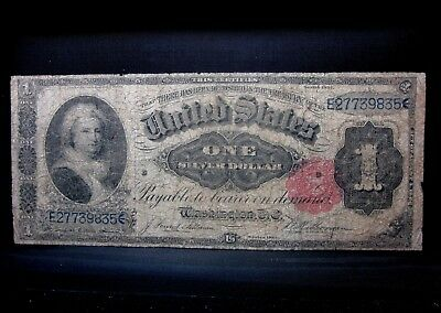 1891 $1 Silver Certificate ✪ Good G ✪ Martha Washington L@@k Now Circ ◢Trusted◣