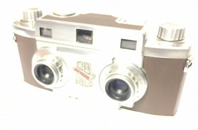 Revere 33 Stereoview 3D Camera with Wollensak lenses,Manual, and Box. New