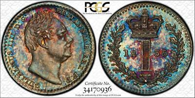 1835 Maundy Set - Pcgs 'secure' Graded Pl63/64 - Gorgeous Rainbow Toning