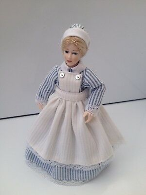 Heidi Ott Discontinued Nurse Dolls House Miniature Doll Lady Nanny