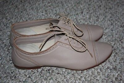 Women's Bloch tan soft leather lt weight dance shoes size 37.5 made in Thailand
