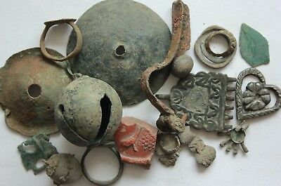 L6 Lot of  Ancient Roman Bronze Artifacts  155g