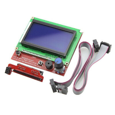 12864 LCD DISPLAY CONTROLLER WITH ADAPTER FOR RAMPS 1.4 RepRap Guru 3D Printer