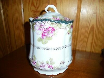 Antique Biscuit Jar - Vintage  Porcelain