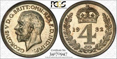 1932 Maundy Set - Pcgs 'secure' Graded Pl64/65