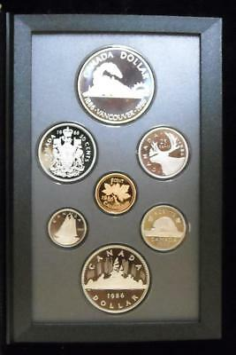 1986 Canada Double Dollar Proof set - With Box and COA (A141)