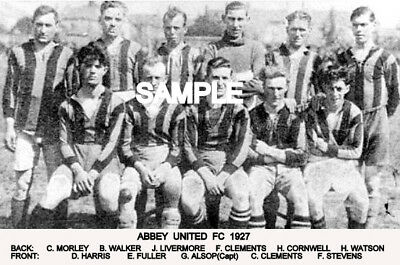 Abbey (Cambridge) Utd FC 1927 Team Photo