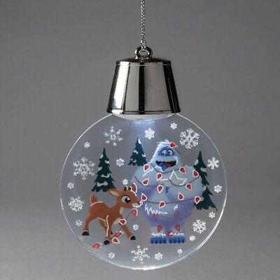 Department 56 Rudolph Decorating Bumble Holidazzler Light Up Christmas Ornament